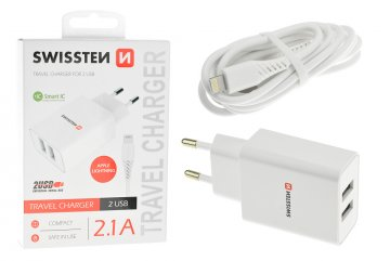 Síťový adaptér Smart IC 2x USB 2,1 A power lightning